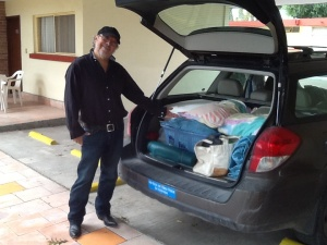 Arturo has mastered the art of packing the car, especially as our belongings have expanded on the trip.